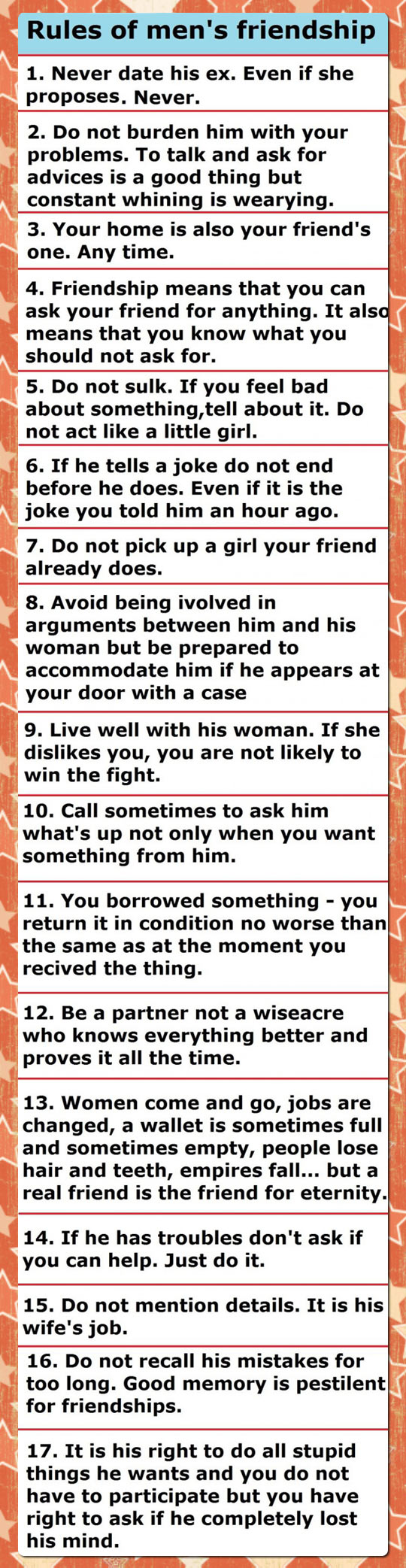 Bro Code's Most Important Rules