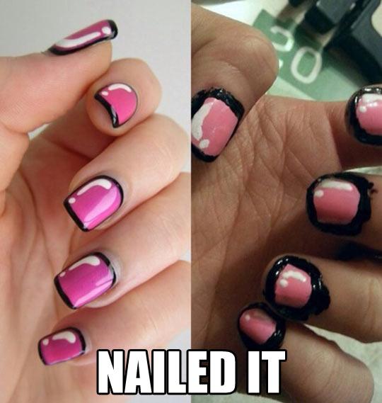 funny-nail-painting-fail-pink-black-stripes