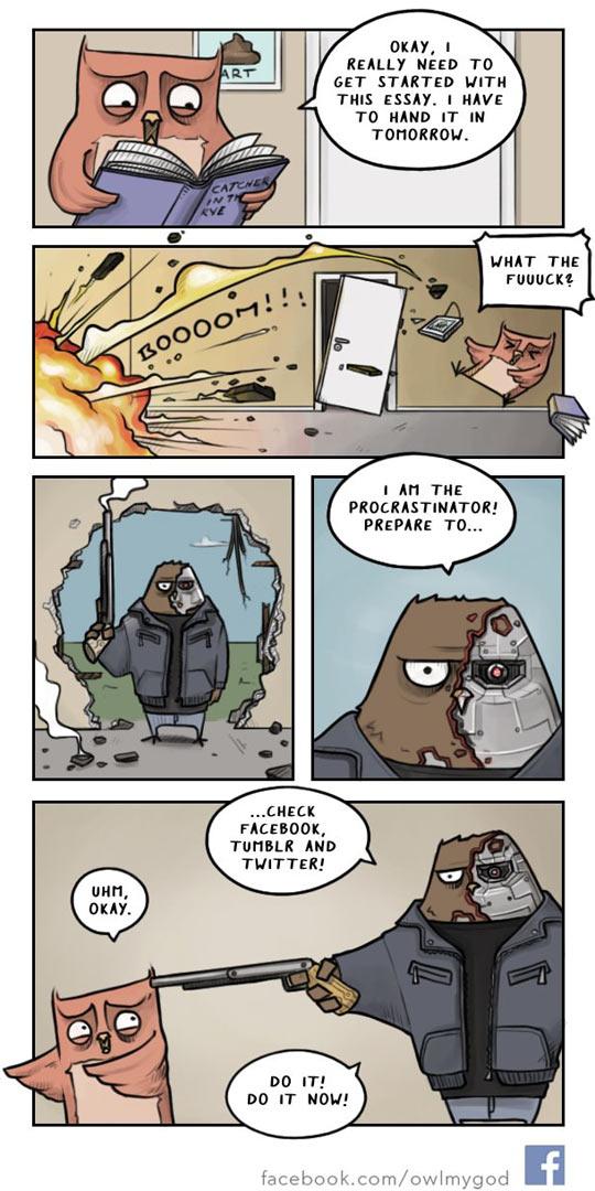 funny-owl-reading-comic-Terminator