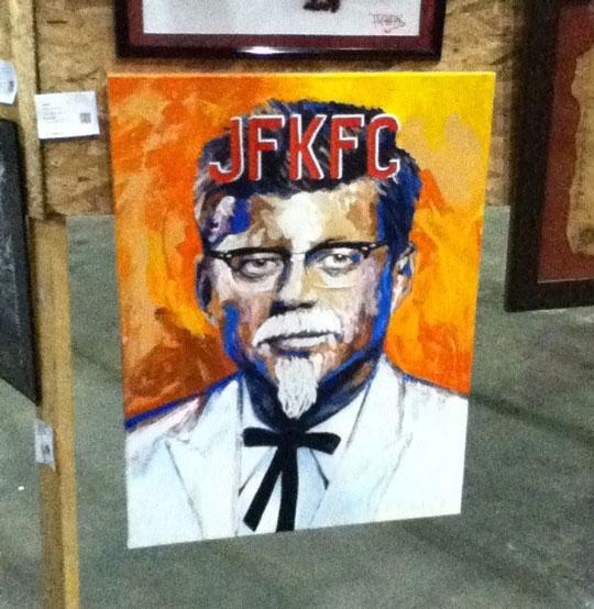 funny-painting-Kennedy-KFC-mashup