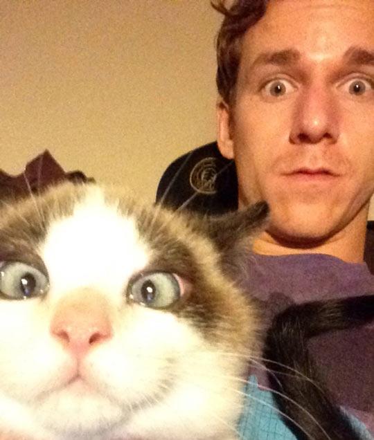funny-selfie-cat-guy-crossed-eyed