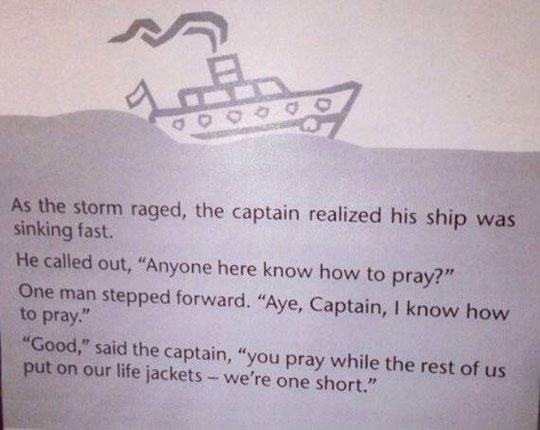 funny-ship-sinking-story-praying