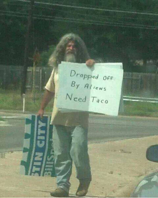 Will somebody get this man a taco?