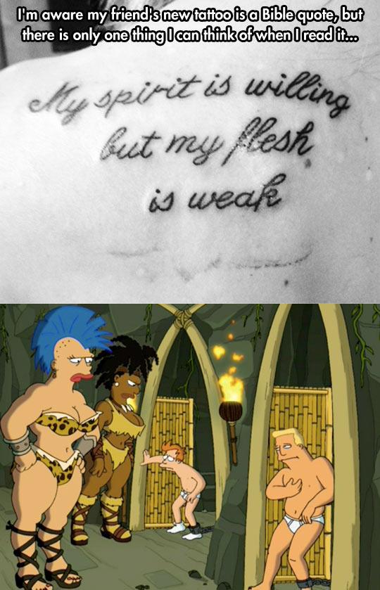 funny-tattoo-Bible-verse-Futurama-Fry