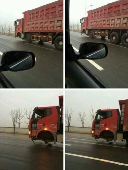 funny-truck-no-wheels-driving-street