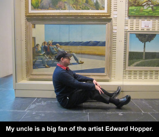 When My Uncle And I Go To The Museum…