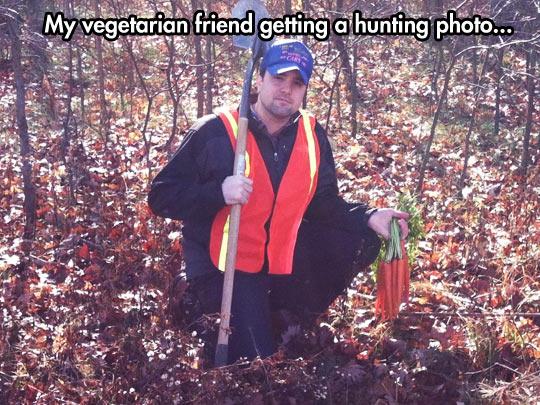 funny-vegetarian-hunting-trip-carrots-hilarious
