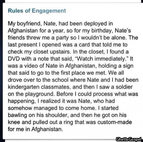 Every guy should aim for something as spectacular as this!!