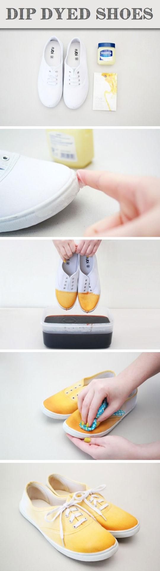 cool-DIY-dyed-shoes-vaseline