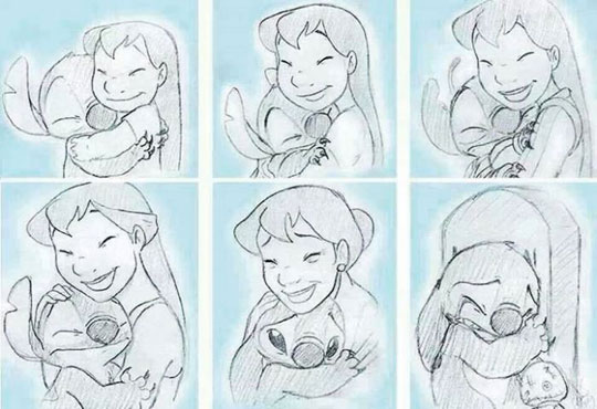 cool-Lilo-Stitch-growing-old-drawing
