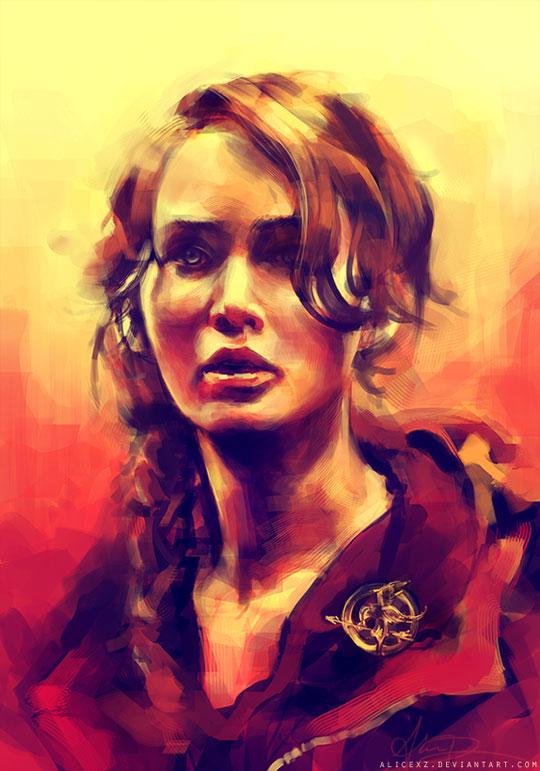cool-art-Jennifer-Lawrence-colors-design