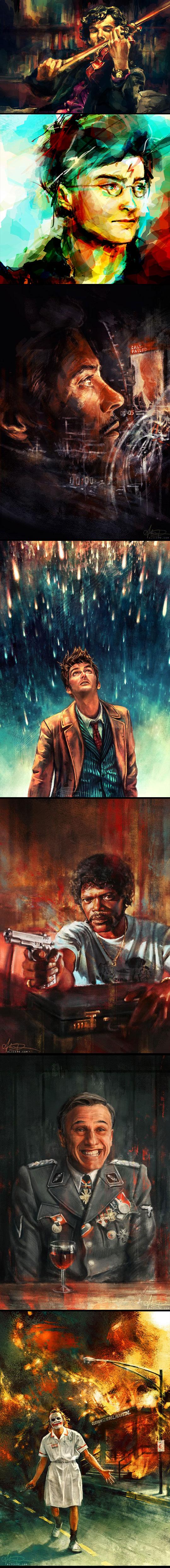 cool-art-Sherlock-Harry-Potter-digital-colors