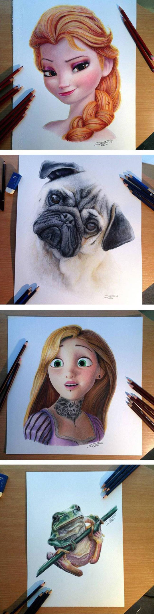 cool-art-drawing-real-Frozen-pug