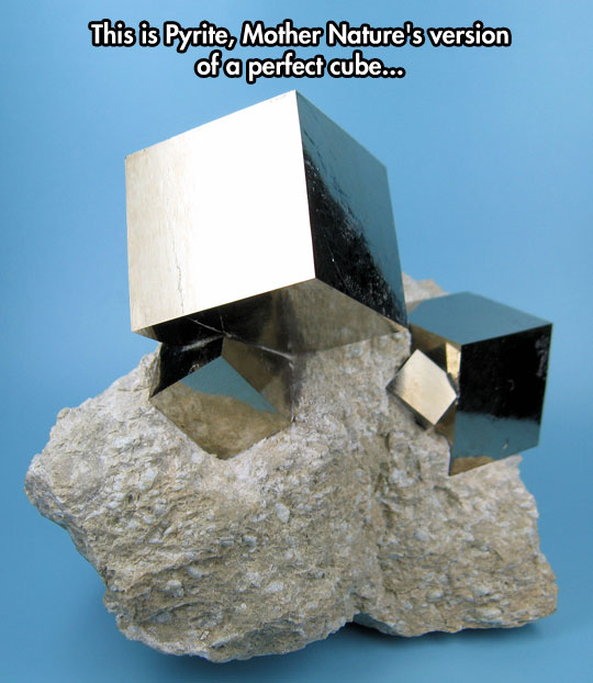cool-cubic-shape-Geology-Pyrite