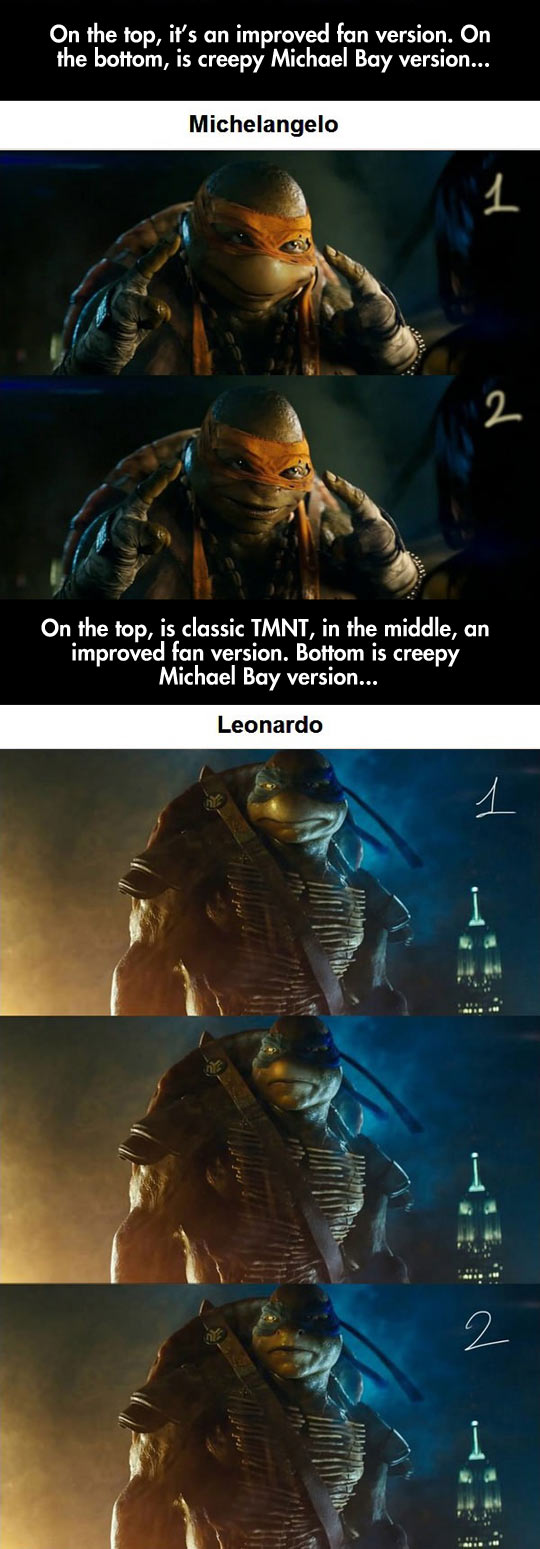 Someone took It Upon Themselves To Improve The New TMNT Designs