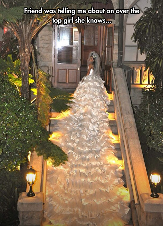cool-large-wedding-dress-tail-stairs