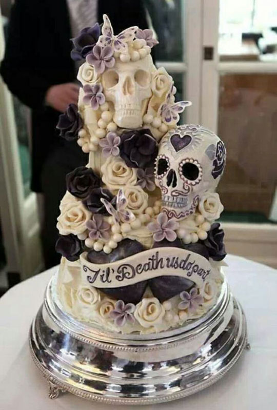 One Of The Greatest Wedding Cakes I've Ever Seen