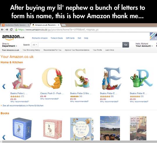Amazon Likes To Play Pranks On Me