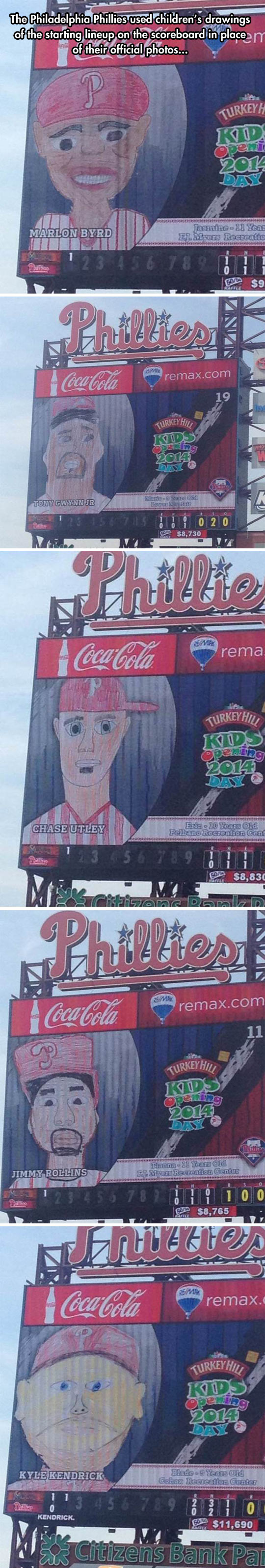 Children's Drawings Of The Phillies' Lineup Are Adorably Goofy