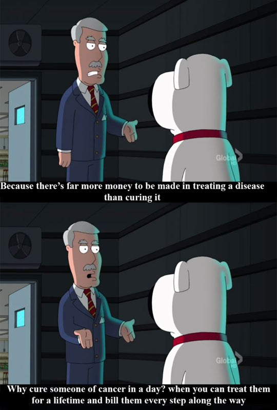 funny-Family-Guy-Bryan-treating-curing-disease