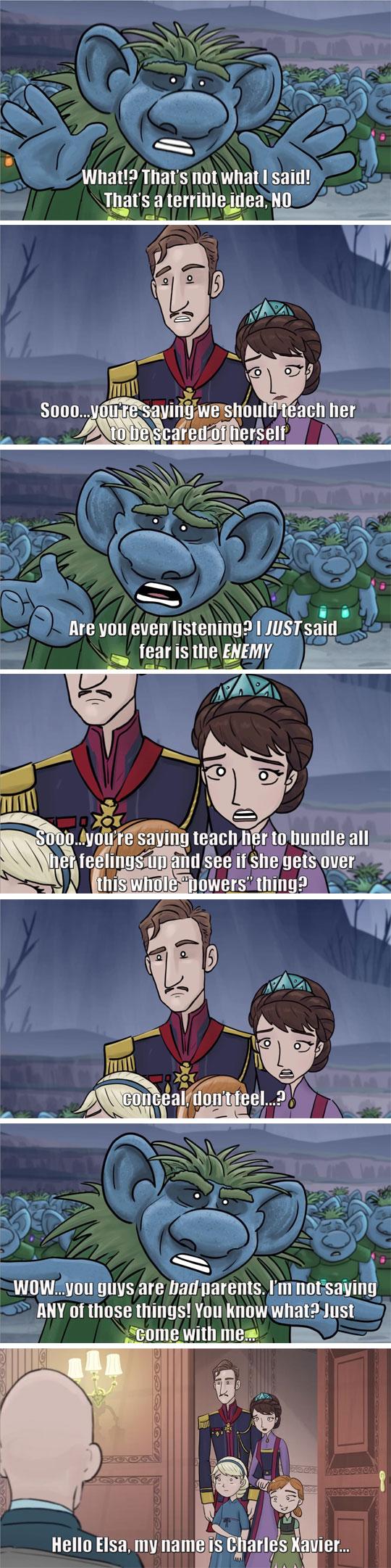 funny-Frozen-cartoon-ending-alternative-X-Men