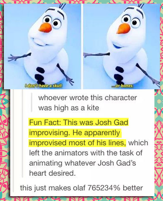 funny-Frozen-snowman-character-improvisation