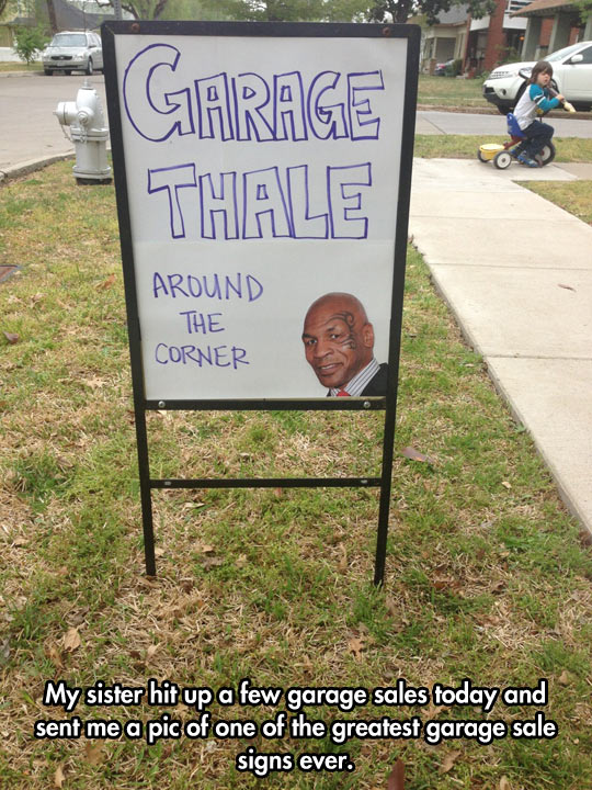 funny-Garage-Sale-sign-Mike-Tyson