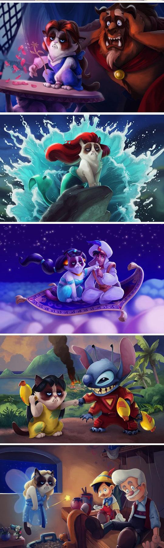 funny-Grumpy-cat-Disney-stories-adventures