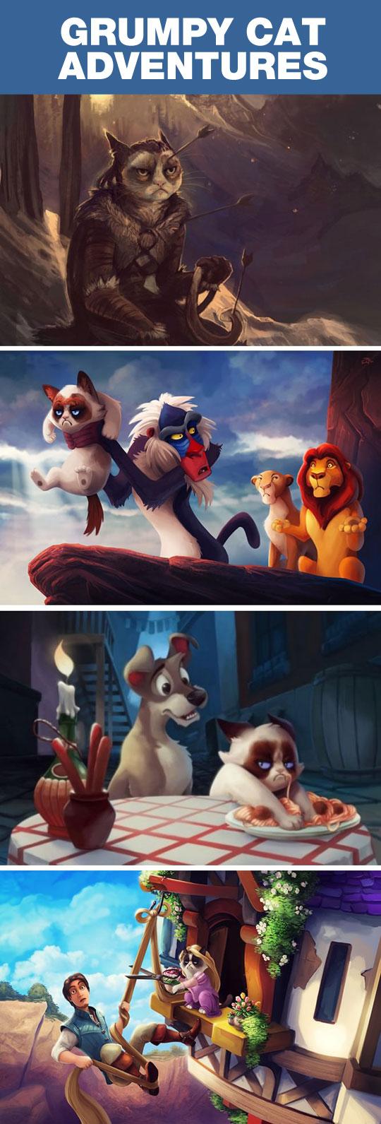funny-Grumpy-cat-cartoon-adventures-Lion-King