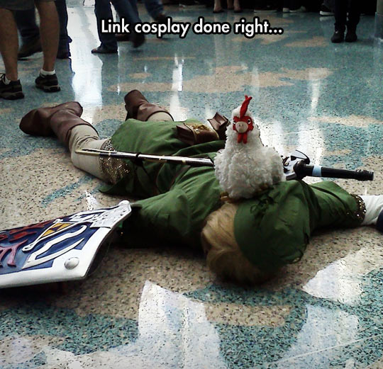 Funny Meme Links : Link cosplay