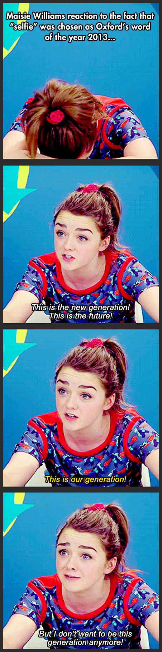 funny-Maisie-Williams-reaction-selfie-word-2013