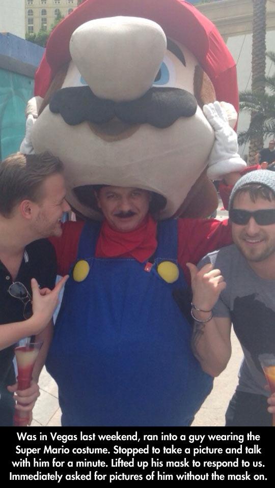 Mario Disguised as Mario