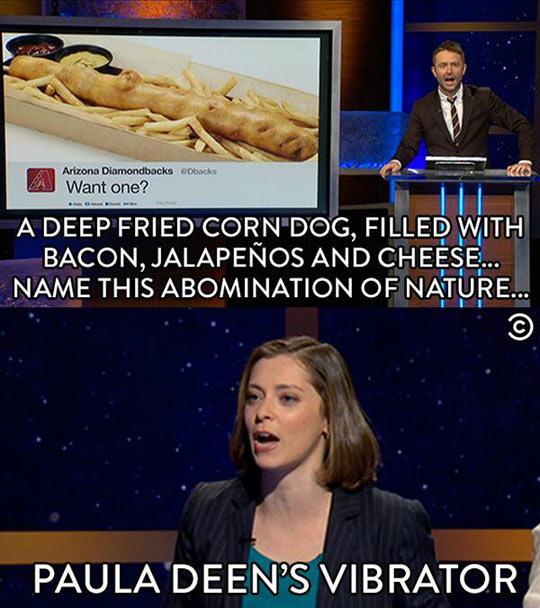 funny-Paula-Deen-corn-dog-fried