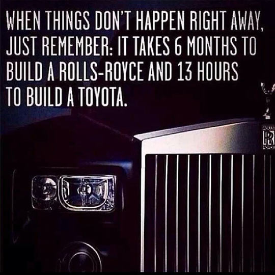 If Things Don't Happen Right Away