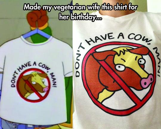 Her Being a Vegetarian Is No Misteak