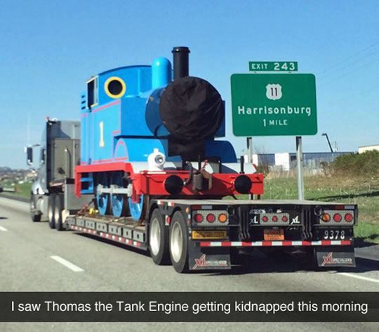 funny-Thomas-Tank-Engine-truck-highway