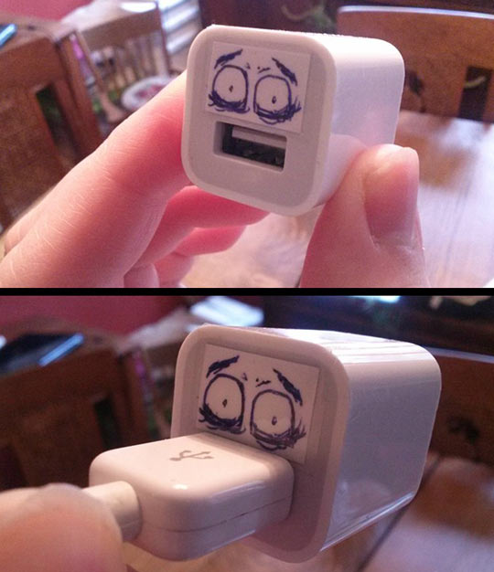It's More Disturbing With The USB Cable Plugged In