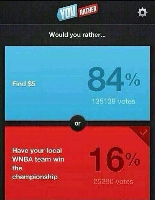 I Would Take The Five Bucks