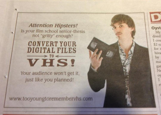 funny-ad-paper-VHS-hipster