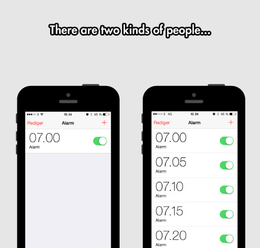 Two Kinds Of People In The Morning