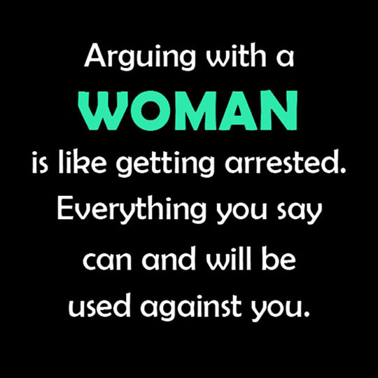 Arguing With a Female