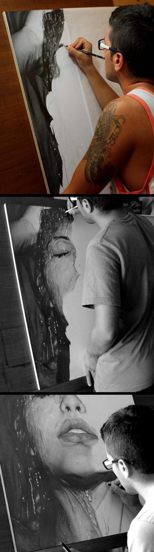 Hard Edge Realism Painting