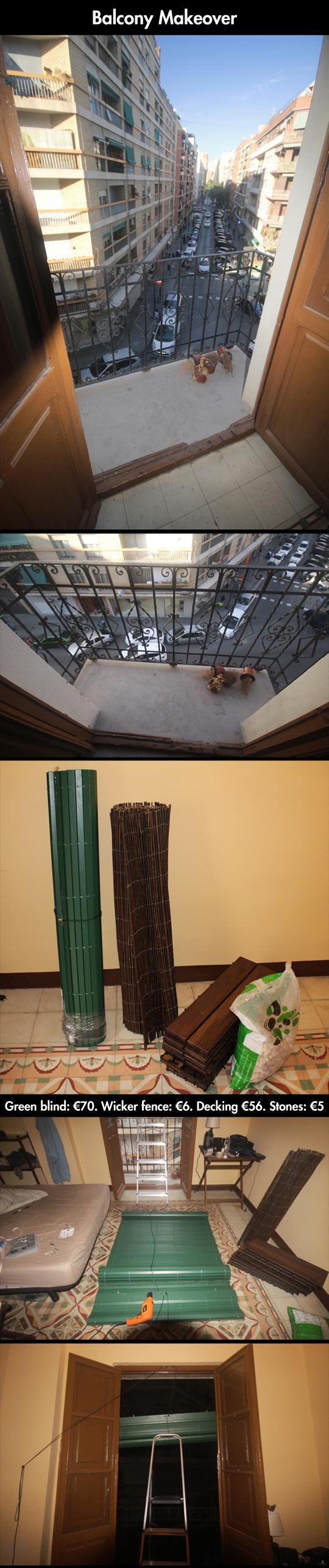 Very Creative Way To Renew Your Balcony
