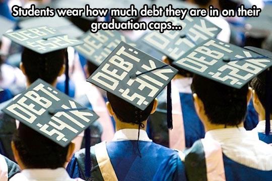 funny-college-boys-graduation-caps-debt