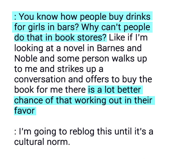 New Cultural Norm, Please