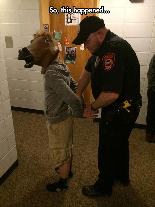 funny-cop-arresting-man-horse-marks
