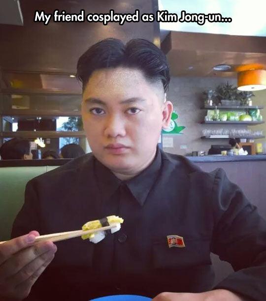 funny-cosplay-Kim-Jong-Un-eating