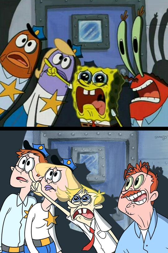 funny-drawing-SpongeBob-human-version