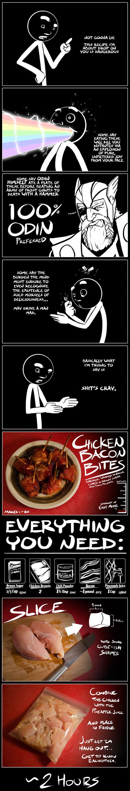 funny-explain-chicken-bacon-food-recipe