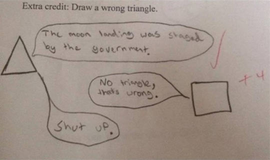 Draw a Wrong Triangle